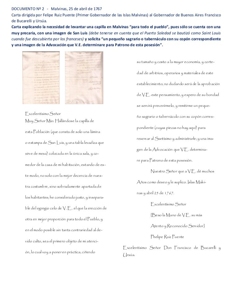 Cartas inéditas confirman que las Malvinas siempre fueron argentinas