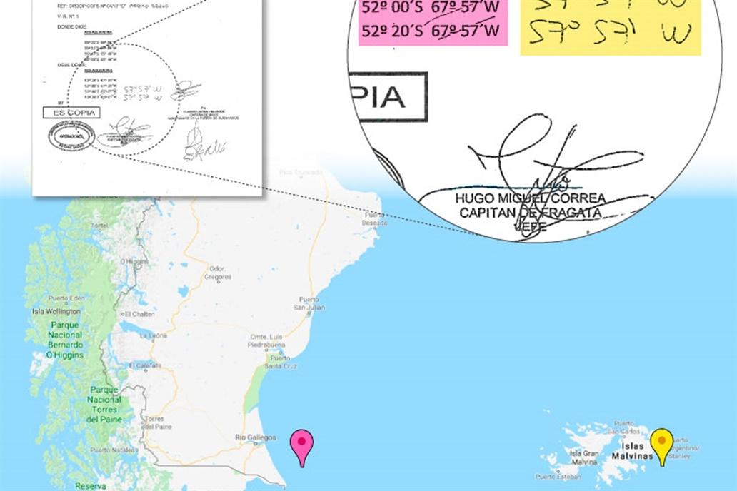 ¿El submarino ARA San Juan estuvo cerca de Malvinas?