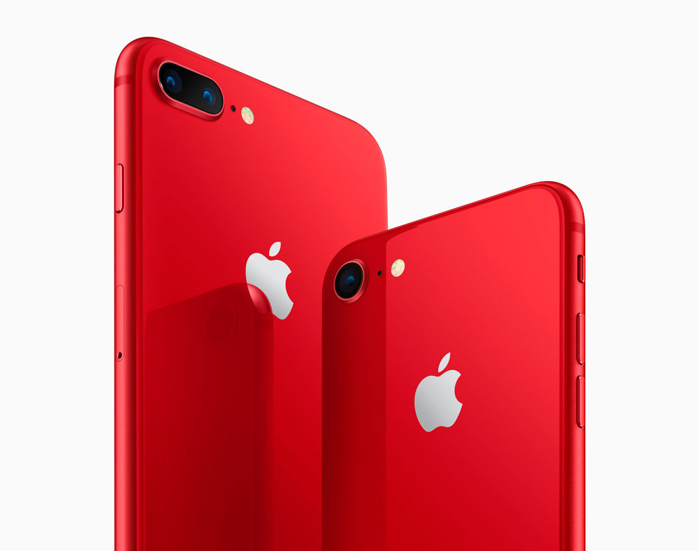 Lanzarán el iPhone 8 y 8 Plus en rojo