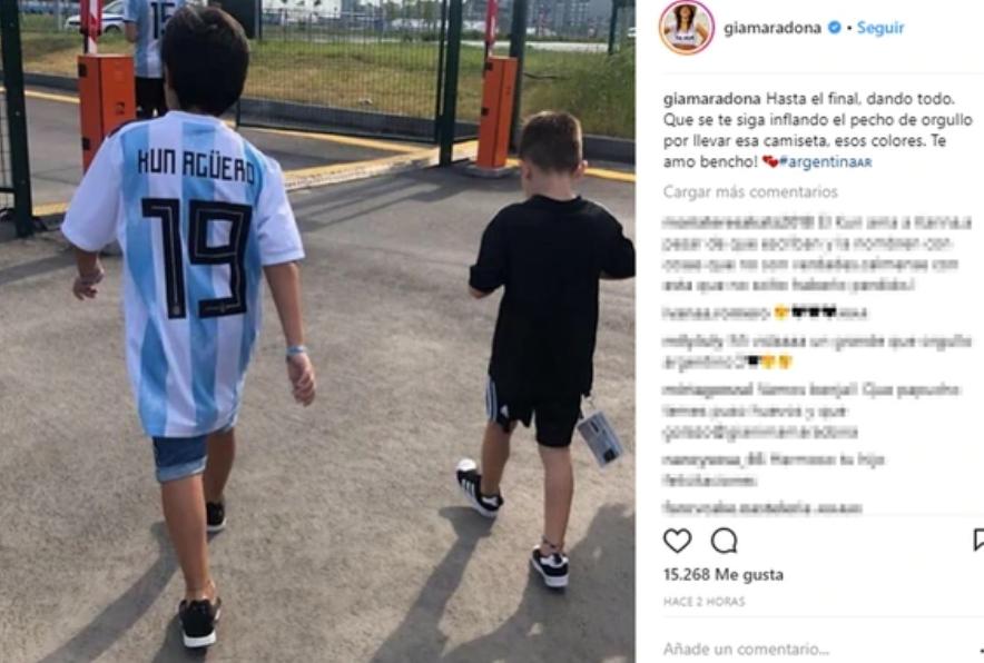 Gianinna Maradona contactó a la mujer que fotografió a su hijo