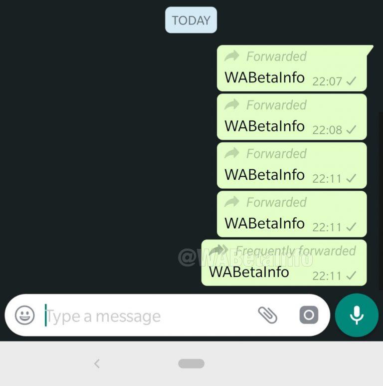 WhatsApp mostrará cuántas veces se ha reenviado un mensaje