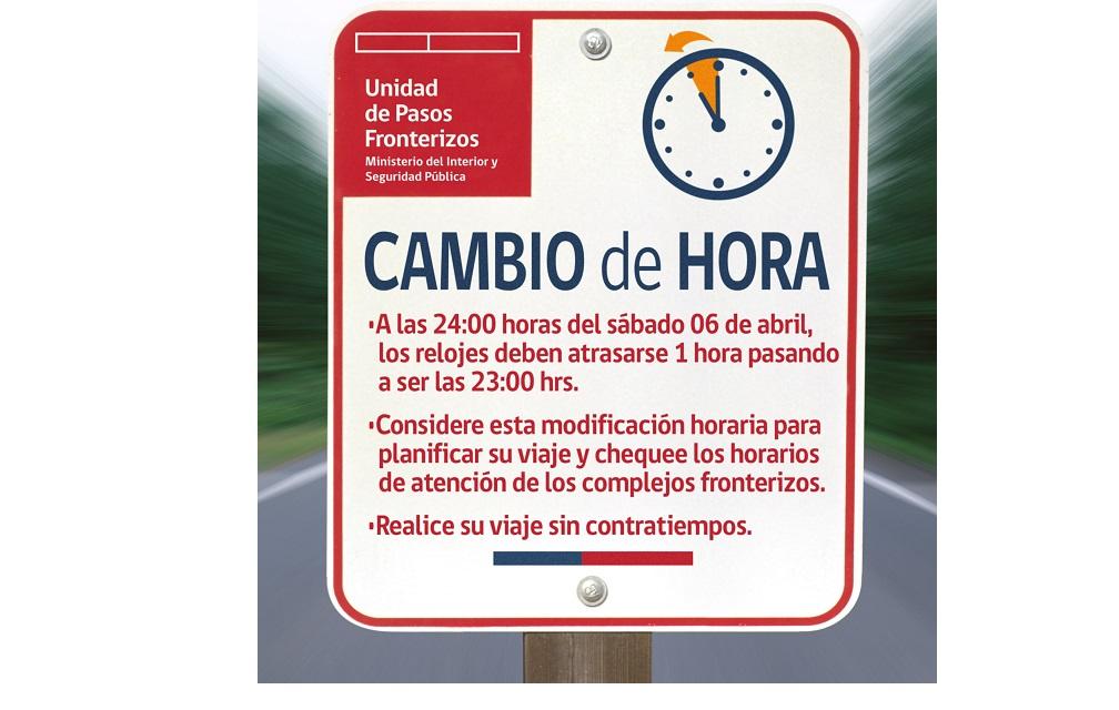 Atención: este sábado cambia la hora en Chile