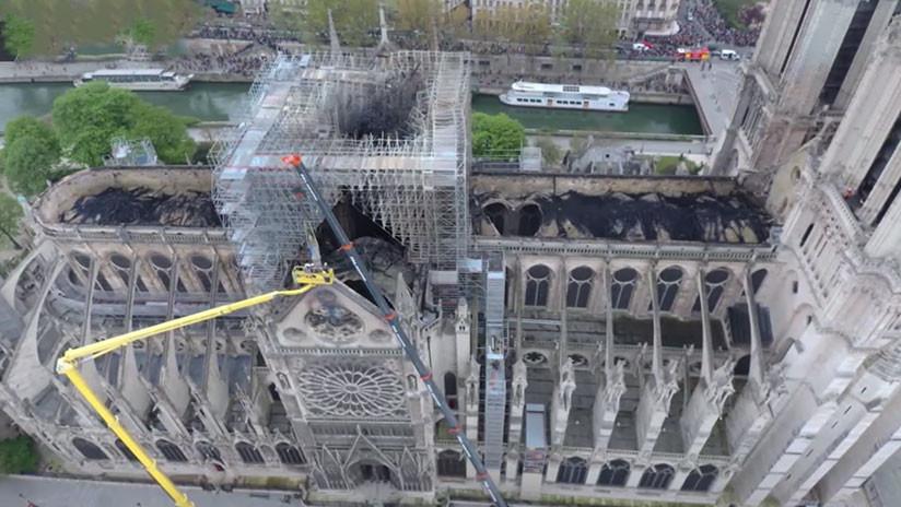 Notre Dame celebró su primera misa tras el incendio