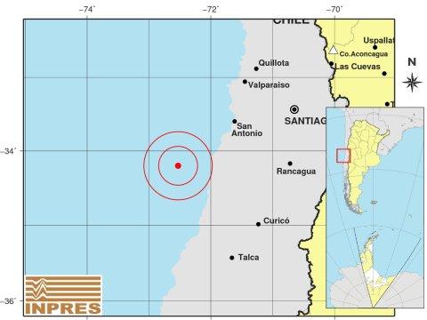 Fuerte sismo en Chile
