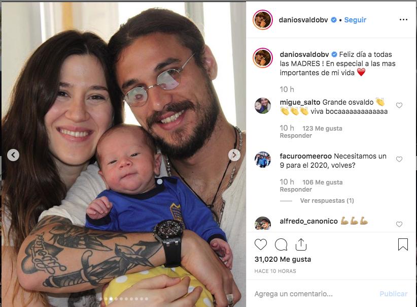 Daniel Osvaldo y un mensaje especial para Jimena Barón