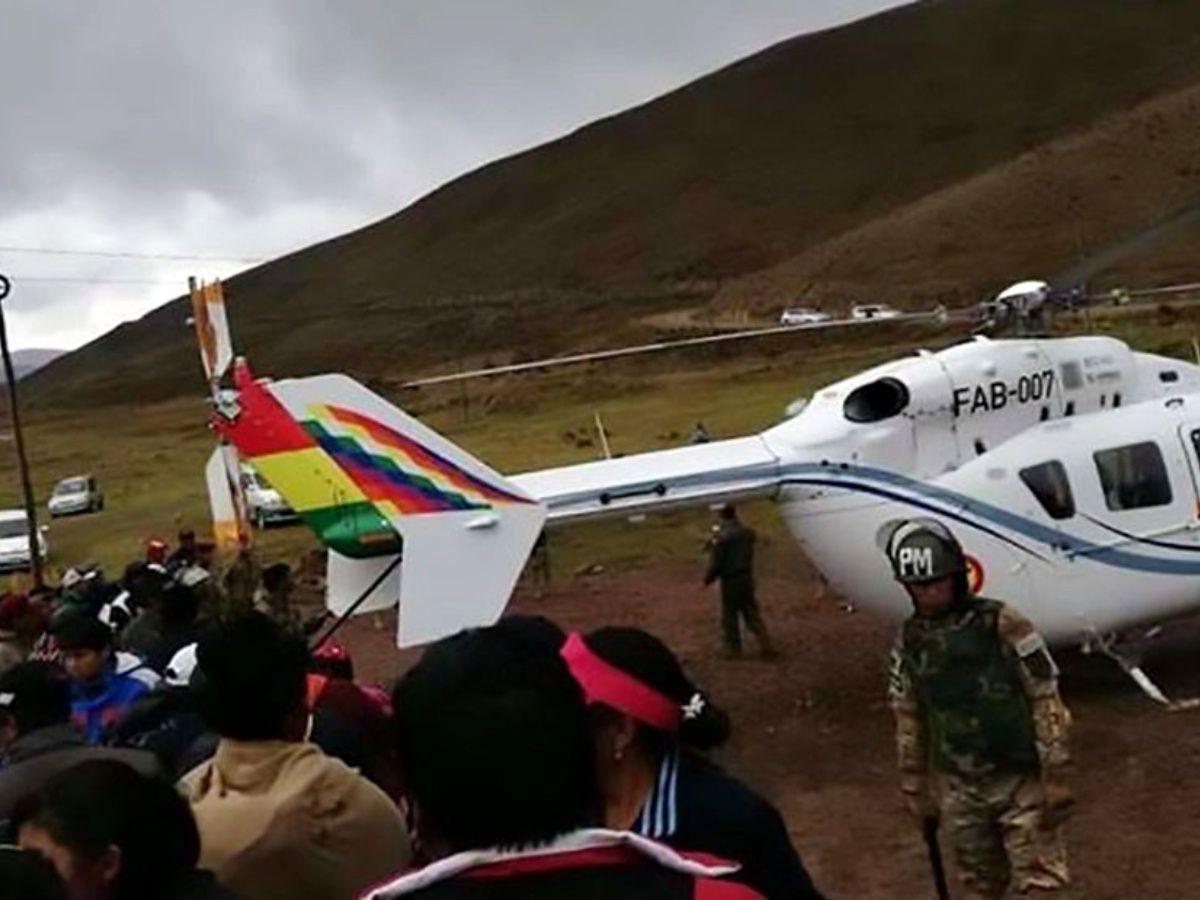 نتيجة بحث الصور عن Helicóptero de Evo Morales