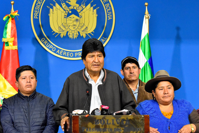 """Morales reclama a Mesa y Camacho la """"pacificación"""" de Bolivia - Diario ElSol.com.ar Mendoza"""