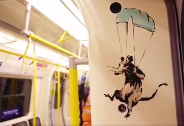 El metro de Londres elimina los dibujos de Banksy a favor del barbijo - Diario El Sol. Mendoza, Argentina.