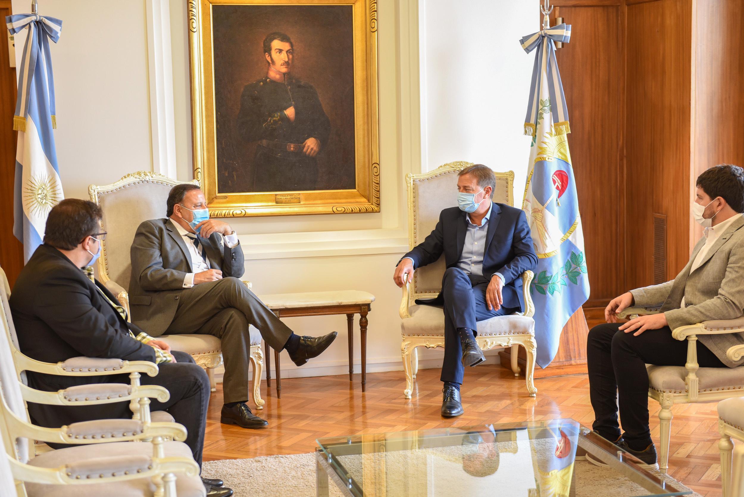 El gobernador Suarez recibió a su par Quintela
