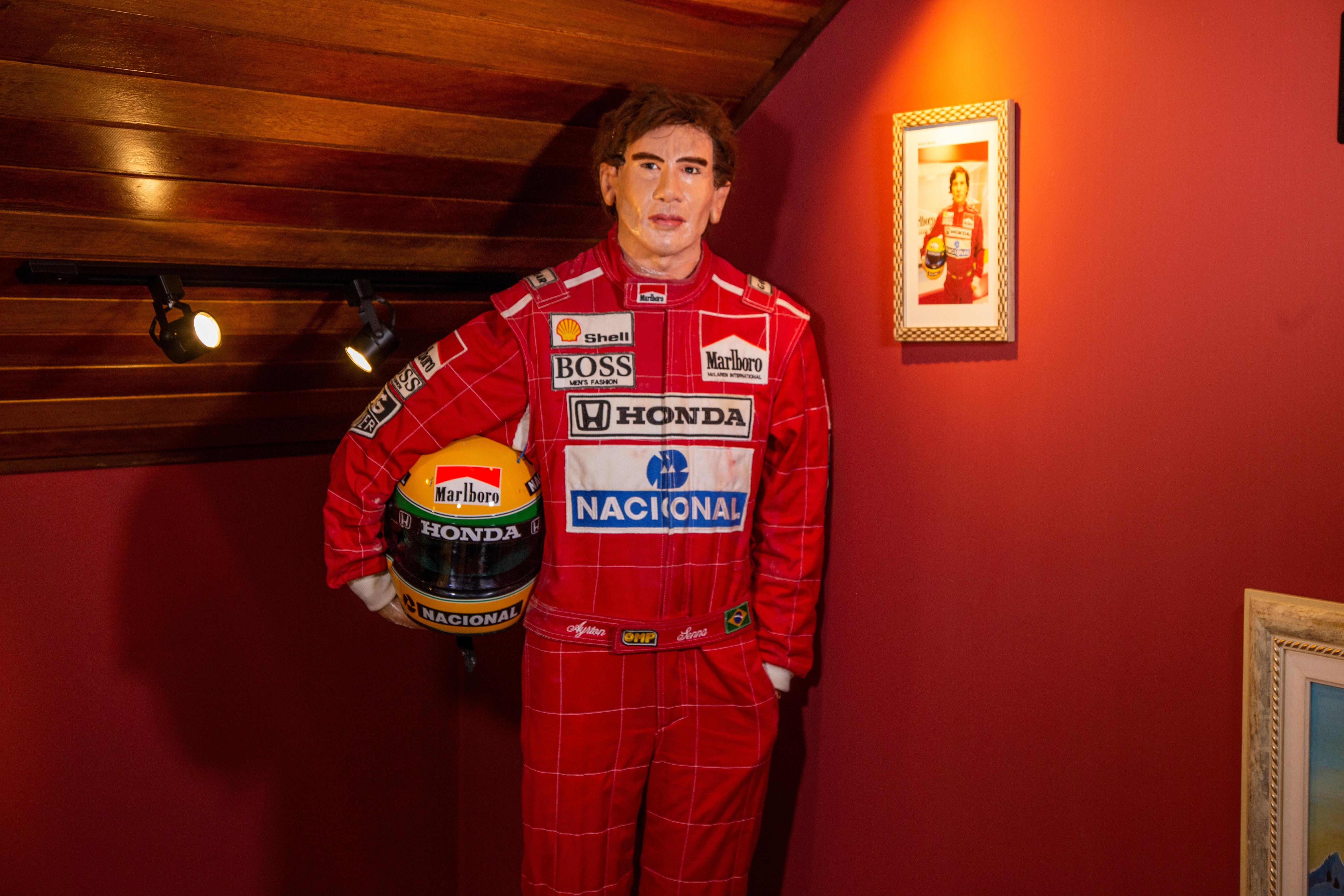 Figura de cera de Ayrton Senna. Brazilian Horror Story.