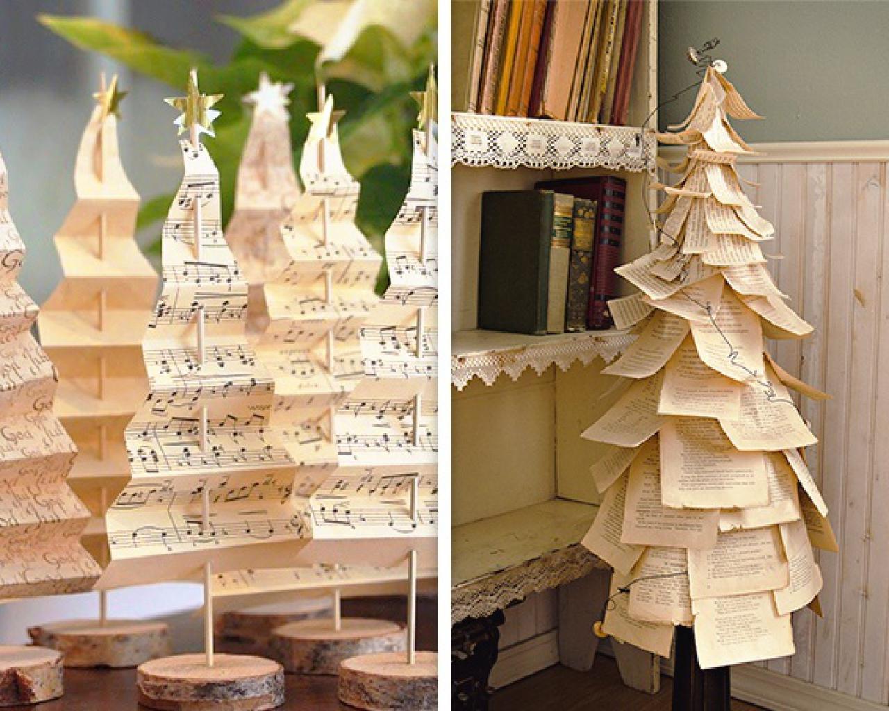 Ideas originales para un rbol de navidad hecho en casa - Arbol de navidad hecho en casa ...